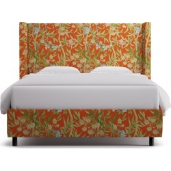 Modern Wingback Bed | Queen | Mandarin Lanai