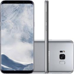 "Smartphone Samsung Galaxy S8 Dual Chip Android Octa-Core Tela 5.8"" 64GB 4G Câmera 12MP Oi - Prata"