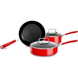 Conjunto De Panelas Em Alumínio Esmaltado 3 Peças Kitchenaid Empire Red - Outlet Ki792av Out found on Bargain Bro India from compracerta BR for $391.51