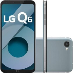 "Smartphone LG Q6 Dual Chip Android Octa-Core Tela 5.5"" Full Hd+ 32GB 4G Câmera 13MP - Platinum"