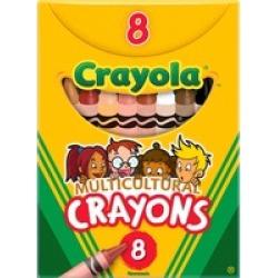 Crayola Large Regular Multicultural Crayons