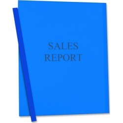 Wholesale Report Covers: Discounts on C-Line Vinyl Report Cover with Binding Bars CLI32555
