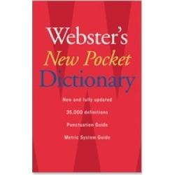 Houghton Mifflin Webster's New Pocket Dictionary Dictionary Printed Bo
