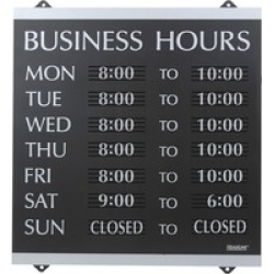 U.S. Stamp & Sign Century Business Hours Sign