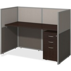 bbf Easy Office 60W Straight Desk Closed Office with 3 Drawer Mobile P