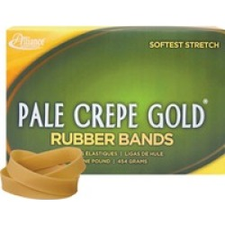 20825 Pale Crepe Gold Rubber Bands
