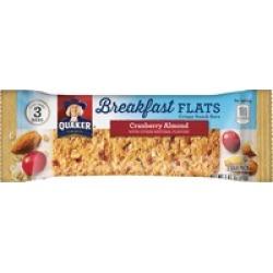 Quaker Oats Foods Breakfast Flats Crispy Snack Bars