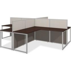 Bush Business Furniture Easy Office 60W 4 Person L Desk Open Office