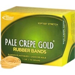 20129 Pale Crepe Gold Rubber Bands