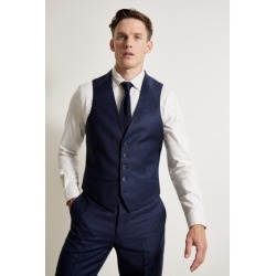 Ted Baker Tailored Fit Oversized Blue Check Waistcoat found on Bargain Bro UK from Moss Bros Retail