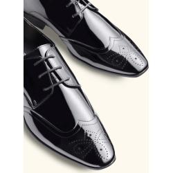 Moss London Hatchon Patent Brogue Dress Shoe found on Bargain Bro UK from Moss Bros Retail