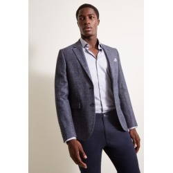 DKNY Slim Fit Faded Blue Texture Jacket found on Bargain Bro UK from Moss Bros Retail