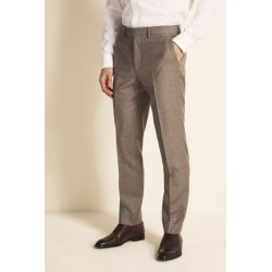 Ted Baker Gold Tailored Fit Stone Semi Plain Trousers found on Bargain Bro UK from Moss Bros Retail