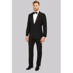 Moss Esq. Regular Fit Black Notch Tuxedo Suit Jacket found on Bargain Bro UK from Moss Bros Retail