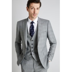 Savoy Taylors Guild Regular Fit Black and White with Blue Check Jacket found on Bargain Bro UK from Moss Bros Retail