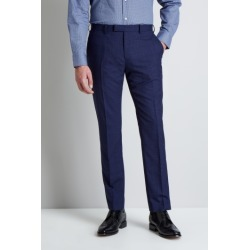 Moss 1851 Tailored Fit Navy Check Trousers found on Bargain Bro UK from Moss Bros Retail