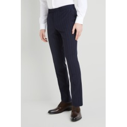 DKNY Slim Fit Navy Stripe Trousers found on Bargain Bro UK from Moss Bros Retail