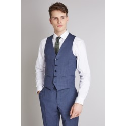 DKNY Slim Fit Ocean Blue Waistcoat found on Bargain Bro UK from Moss Bros Retail