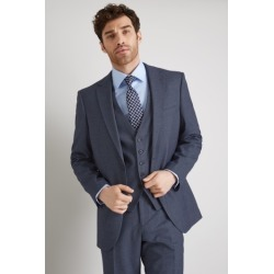Moss Esq. Regular Fit Navy Salt and Pepper Suit Jacket found on Bargain Bro UK from Moss Bros Retail