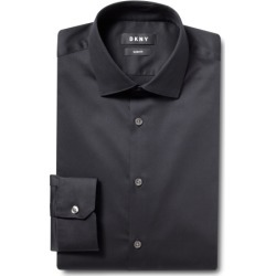DKNY Slim Fit Black Single Cuff Stretch Shirt found on Bargain Bro UK from Moss Bros Retail