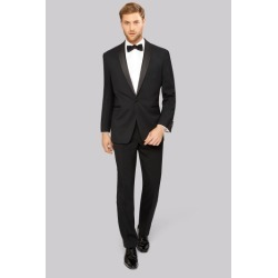 Moss Esq. Black Shawl Lapel Regular Fit Tuxedo Suit Jacket found on Bargain Bro UK from Moss Bros Retail