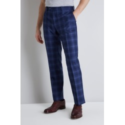 Ted Baker Tailored Fit Blue Bold Check Trousers found on Bargain Bro UK from Moss Bros Retail