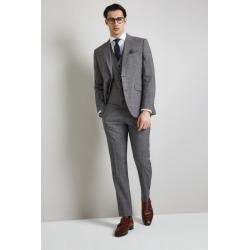 Lanificio F.lli Cerruti Dal 1881 Cloth Tailored Fit Grey Check iTra. found on Bargain Bro UK from Moss Bros Retail