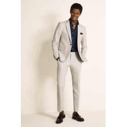 DKNY Slim Fit Light Grey Crepe Suit Jacket found on Bargain Bro UK from Moss Bros Retail