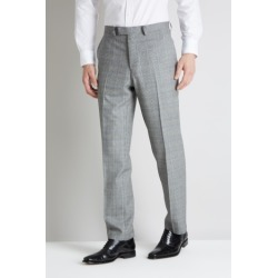Savoy Taylors Guild Regular Fit Black and White with Blue Check Tro. found on Bargain Bro UK from Moss Bros Retail