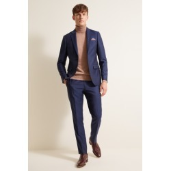 DKNY Slim Fit Blue Sharkskin Suit Jacket found on Bargain Bro UK from Moss Bros Retail