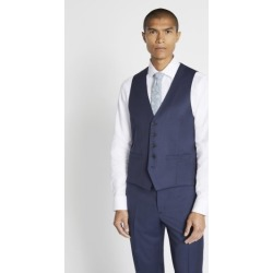 Savoy Taylors Guild Regular Fit Navy Twill Waistcoat found on Bargain Bro UK from Moss Bros Retail