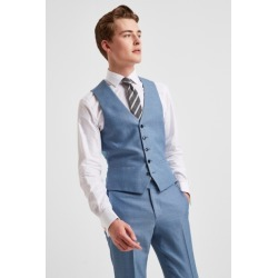 DKNY Slim Fit Light Blue Texture Waistcoat found on Bargain Bro UK from Moss Bros Retail