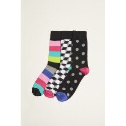 DKNY Canton Multicolour Stripe, Geo & Spot 3-Pack Socks found on Bargain Bro UK from Moss Bros Retail
