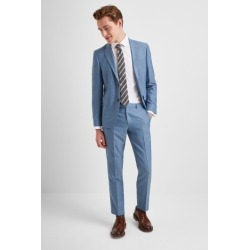 DKNY Slim Fit Light Blue Texture Suit Jacket found on Bargain Bro UK from Moss Bros Retail