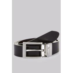 Moss 1851 Black/Brown Reversible Bonded Leather Belt found on Bargain Bro UK from Moss Bros Retail