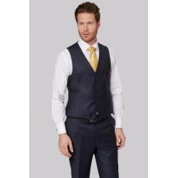 Ermenegildo Zegna Cloth Regular Fit Plain Blue Waistcoat found on Bargain Bro UK from Moss Bros Retail
