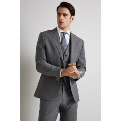 Moss 1851 Performance Tailored Fit Light Grey Jacket found on Bargain Bro UK from Moss Bros Retail