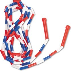 CSIPR16 Champion Sports Segmented Plastic Jump Rope, 16Ft, Red/Blue/White