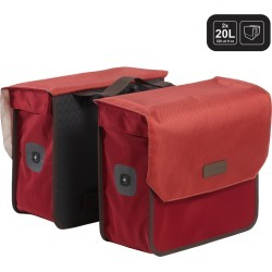 520 Double Bag 2x20l - Burgundy Red found on Bargain Bro UK from Decathlon