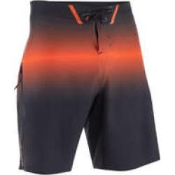 Decathlon Olaian 900 Men's Long Surfing Boardshorts - Black/Orange found on Bargain Bro UK from Decathlon