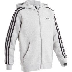 Boys' 3-stripe Chest Logo Hooded Gym Jacket - Grey found on Bargain Bro UK from Decathlon