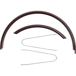 Mudguard 28 Inches - Burgundy found on Bargain Bro UK from Decathlon