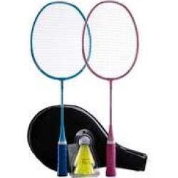Decathlon Perfly Kid Badminton Racket Set Starter Blue Pink found on Bargain Bro UK from Decathlon