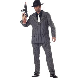 Mens Gangster Halloween Costume