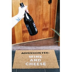 Typo - Door Mat - Wine and cheese!