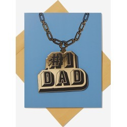 Typo - Premium Fathers Day Card - #1 dad