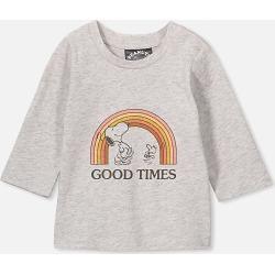 Cotton On Kids - Jamie Long Sleeve Tee - Lcn pea cloud marle/snoopy good times