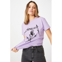 Cotton On Women - Classic Metallica T Shirt - Lcn pro metallica skull potion/purple potion