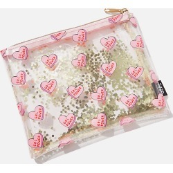 Typo - Clear It Pencil Case - Grl power hearts