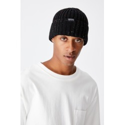 Cotton On Men - Nordic Beanie - Black nep/unknown projects